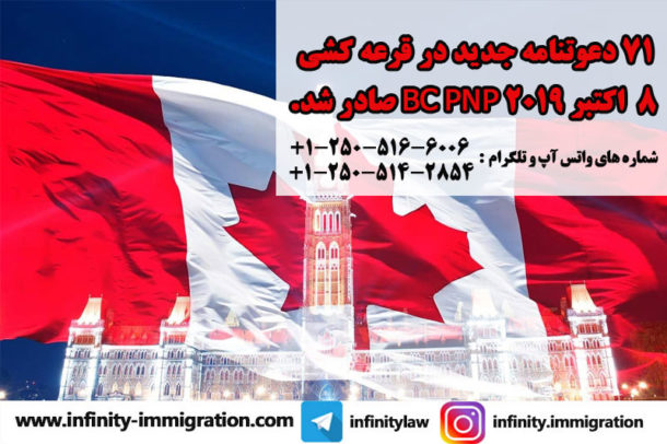 BC PNP Express Entry and Skills Immigration Draw Results — October 8, 2019